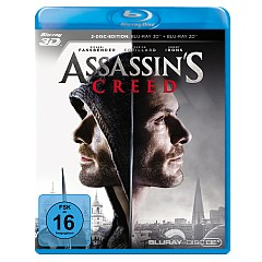 Assassin's Creed (2016) 3D (Blu-ray 3D + Blu-ray + UV Copy) Blu-ray