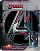 Avengers: Age of Ultron (2015) 3D - Best Buy 'Vision' Steelbook (Blu-ray 3D + Blu-ray + UV Copy) (US Import ohne dt. Ton) Blu-ray