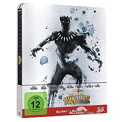 Black Panther (2018) 3D (Limited Steelbook Edition) (Blu-ray 3D + Blu-ray) Blu-ray