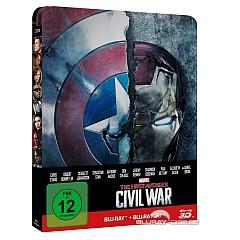 The First Avenger: Civil War 3D (Limited Steelbook Edition) (Blu-ray 3D + Blu-ray) Blu-ray
