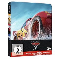 Cars 3: Evolution 3D (Limited Steelbook Edition) (Blu-ray 3D + Blu-ray + Bonus Blu-ray) Blu-ray
