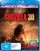 Godzilla (2014) 3D (Bu-ray 3D + Blu-ray + UV Copy) (AU Import ohne dt. Ton) Blu-ray