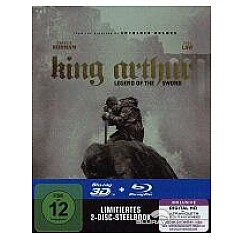King Arthur: Legend of the Sword 3D (Limited Steelbook Edition) (Blu-ray 3D + Blu-ray + UV Copy) Blu-ray
