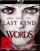 Last Kind Words Blu-ray