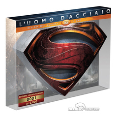 L'uomo d'acciaio 3D - Edizione Limitata Numerata (Blu-ray 3D + Blu-ray + DVD) (IT Import) Blu-ray