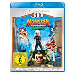 Monster und Aliens 3D (Blu-ray 3D + Blu-ray) Blu-ray