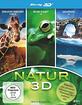 Endloser Horizont 3D - Afrika + Micro Planet - Das Land der zitternden Erde 3D + Galapagos 3D (Natur 3D Box) Blu-ray