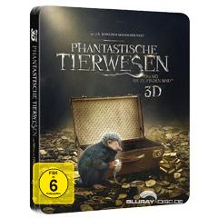 Phantastische Tierwesen und wo sie zu finden sind 3D (Limited Steelbook Edition inkl. Niffler-Figur) (Blu-ray 3D + Blu-ray) Blu-ray