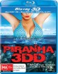 Piranha 3DD (2012) (Blu-ray 3D + Blu-ray + Digital Copy) (AU Import ohne dt. Ton) Blu-ray