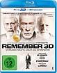 Remember - Vergiss nicht, Dich zu erinnern 3D (Blu-ray 3D) Blu-ray