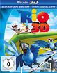 Rio (2011) 3D (Blu-ray 3D + Blu-ray + DVD + Digital Copy) Blu-ray