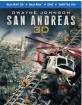 San Andreas (2015) 3D (Blu-ray 3D + Blu-ray + DVD + UV Copy) (US Import ohne dt. Ton) Blu-ray