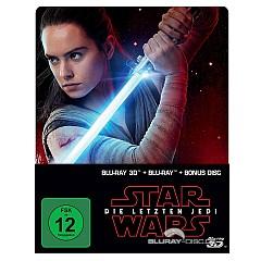 Star Wars: Die letzten Jedi 3D (Limited Steelbook Edition) (Blu-ray 3D + Blu-ray + Bonus Blu-ray) Blu-ray