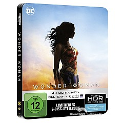 Wonder Woman (2017) 4K (Limited Steelbook Edition) (4K UHD + Blu-ray + UV Copy) Blu-ray