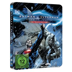 Batman v Superman: Dawn of Justice (2016) Kinofassung und Director's Cut (Illustrated Artwork) (Limited Steelbook Edition) Blu-ray