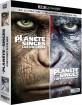La Planète des Singes: Les origines 4K + La Planète des Singes: L'Affrontement 4K (4K UHD + Blu-ray + UV Copy) (FR Import) Blu-ray