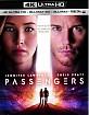 Passengers (2016) 4K (4K UHD + Blu-ray 3D + Blu-ray + UV Copy) (FR Import) Blu-ray