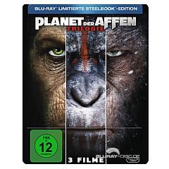 Planet der Affen Trilogie (3-Filme Set) (Limited Steelbook Edition) Blu-ray