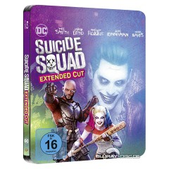 suicide squad blu ray suicide squad 2016 illustrated artwork limited steelbook edition. Black Bedroom Furniture Sets. Home Design Ideas
