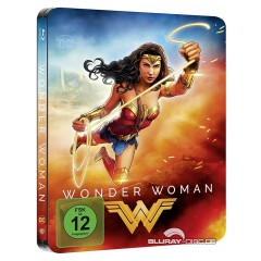 Wonder Woman (2017) (Illustrated Artwork) (Limited Steelbook Edition) Blu-ray