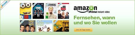 Amazon Prime instant video - Jetzt für 30 Tage testen