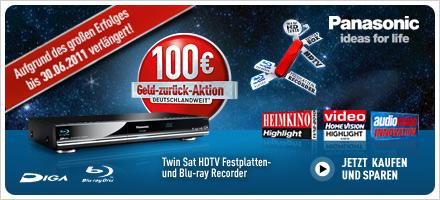 Panasonic - 100 Euro Geld zurück-Aktion bis 30.06.2011