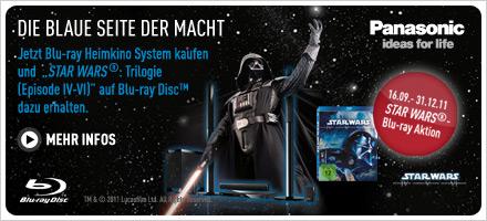 Die blaue Seite der Macht - Jetzt Blu-ray Heimkinosystem kaufen und exklusiv STAR WARS ®: Trilogie (Episode IV-VI) auf Blu-ray Disc™ dazu erhalten