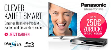 Clever kauft Smart. Smartes Heimkino-Produkt kaufen und bis zu 250,- EUR sichern.