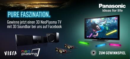 Pure Faszination. Jetzt Gewinnen! - 3D NeoPlasma TV der VT30-Serie und 3D Soundbar BFT800 von Panasonic zu gewinnen