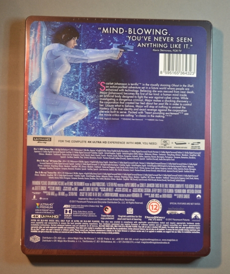 """filmarena.cz fand ich eine """"Ghost in the Shell (2017) 4K Ultra HD 3D + 2D Steelbook™ Limited Collector's Edition (Blu-ray 3D + 2 Blu-ray 1"""