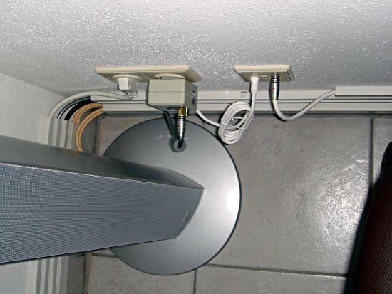 Kabel getrennt in Kabelkanälen verlegt