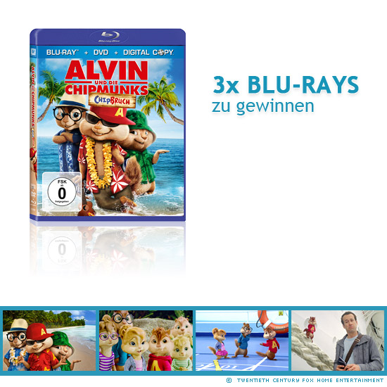Verlosung Alvin Und Die Chipmunks 3 Chipbruch Blu Ray Disc