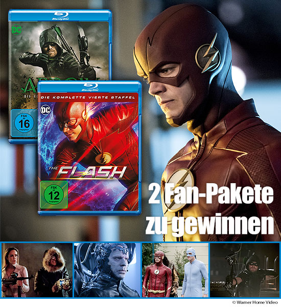 Verlosung: 2 Serienpakete mit Arrow Staffel 6 und The Flash Staffel 4