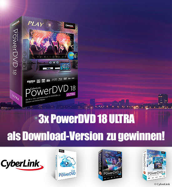 Verlosung: 3x PowerDVD 18 Ultra als Download-Version zu gewinnen