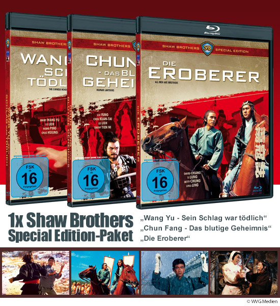 Verlosung: 1x Shaw Brothers Special Edition Fan-Paket