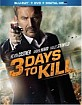 3 Days to Kill - Theatrical and Extended Cut (Blu-ray + DVD + Digital Copy + UV Copy) (Region A - US Import ohne dt. Ton) Blu-ray