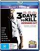3 Days to Kill - Extended Cut (Blu-ray + UV Copy) (AU Import ohne dt. Ton) Blu-ray