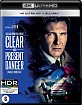 Clear and Present Danger 4K (4K UHD + Blu-ray) (NL Import) Blu-ray