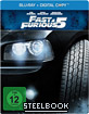 Fast & Furious Five (Steelbook Edition) (Blu-ray + Digital Copy)