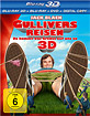 Gullivers Reisen (2010) 3D (Blu-ray 3D + Blu-ray + DVD + Digital Copy) Blu-ray