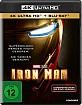 Iron Man (Ungeschnittene US-Kinofassung) 4K (4K UHD + Blu-ray), neuwertig, mit Wendecover