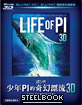 Life of Pi 3D - Steelbook (Blu-ray 3D + Blu-ray) (TW Import)