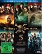 Pirates of the Caribbean 1-5 (5 Movie Collection) Blu-ray