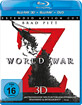 World War Z 3D (Blu-ray 3D + Blu-ray + DVD) Blu-ray