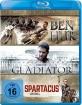 Ben Hur (2016) + Gladiator + Spartacus (1960) (3-Filme Set) Blu-ray