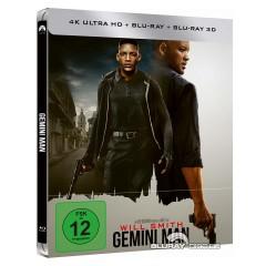 Gemini Man 4k 3d 2019 Limited Steelbook Edition 4k Uhd Blu Ray 3d Blu Ray Blu Ray Film Details