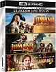 Jumanji (1995) 4K + Jumanji: Bienvenidos a la Jungla 4K + Jumanji: El siguiente Nivel 4K (4K UHD + 3 Blu-ray) (ES Import) Blu-ray